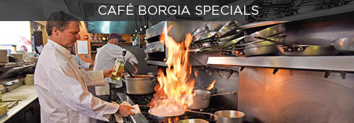 Cafe Borgia Party Planning